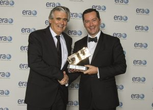 ATR CEO Patrick de Castelbajac (right) presents the award to Pat Byrne, CityJet.