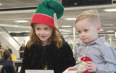 Temple Street Children search the skies for Santa
